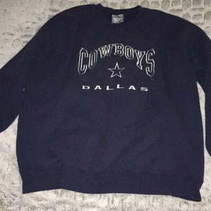 Lee Dallas Cowboys Blue Crewneck Sweatshirt